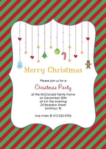 free printable christmas invitations template printable invitations