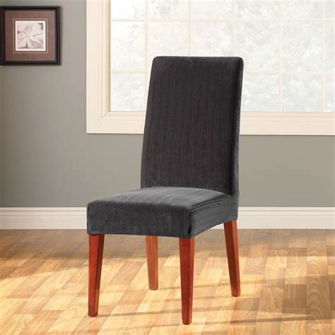 slipcover dining chair sure fit stretch pinstripe dining chair slipcover ebay