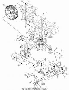 Mtd 13ap616g597  2008  Parts Diagram For Drive  U0026 Rear Wheels