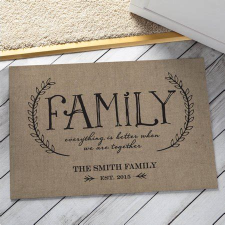 Family Doormat by Personalized Our Family Doormat Beige Walmart