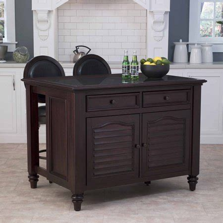 Home Styles Bermuda Kitchen Island And Two Stools In