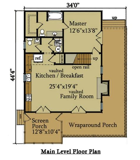 cabin house plan   porches  river cabin