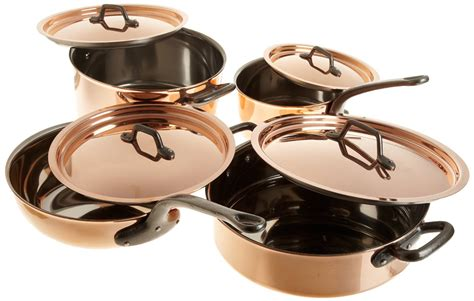bourgeat  piece copper cookware set matfer usa kitchen utensils