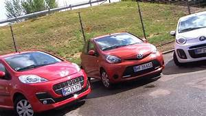 Citroën C1, Peugeot 107, Toyota Aygo vs VW Up! 2012 Test Microbil duel YouTube