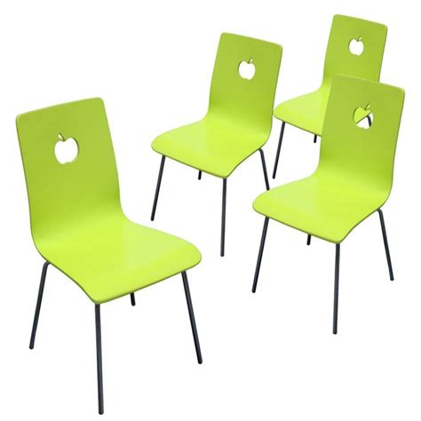 la chaise verte chaise de cuisine verte