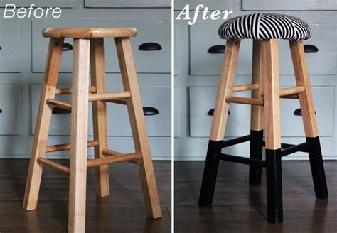 renover chaise bois upholstery bar stool makeover diy project bnbstaging le