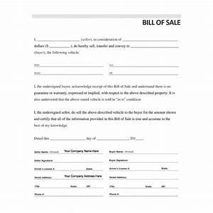 rv bill of sale template