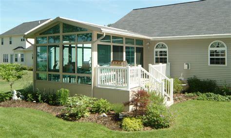 patio enclosures sunroom with deck traditional porch