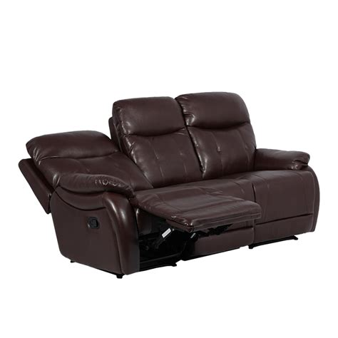 3 seater sofa with 2 recliner actions leather recliner sofa 3 seater eros dark brown price