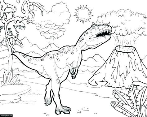 T Coloring Pages Page Impressive Dinosaur With Large Size