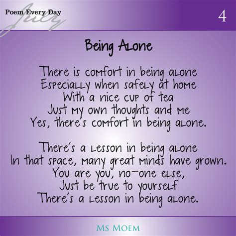 feeling lonely poems
