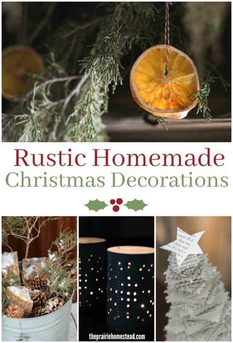 Rustic Homemade Christmas Decorations  Prairie Homestead