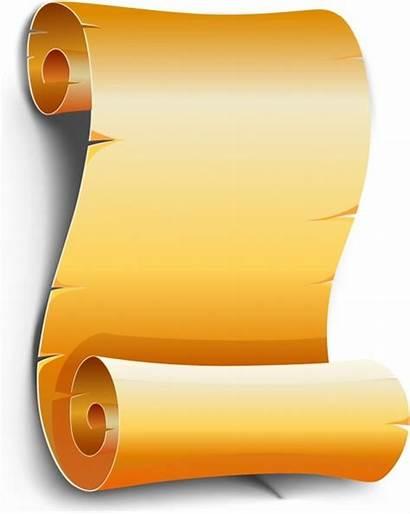 Scroll Vector Icon Parchment Clipart Designs Paper