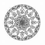 Kaleidoscope Coloring Pages Printable Books sketch template