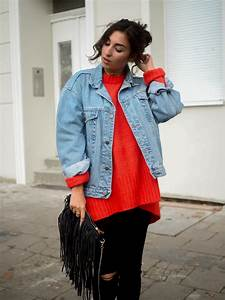 Roter oversize pullover