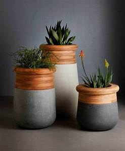 idee jardin moderne decoration avec pot de fleur design With chambre bébé design avec pot de fleur bois