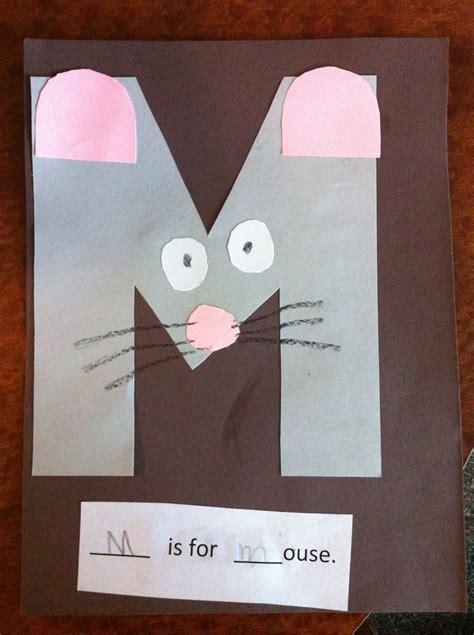 mouse pre  letter  craft toddler school