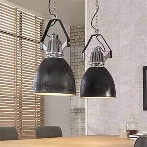 Möbel Im Industriedesign : industie lampe schwarz silber h ngeleuchte im industriedesign licht beleuchtung in 2019 ~ Orissabook.com Haus und Dekorationen