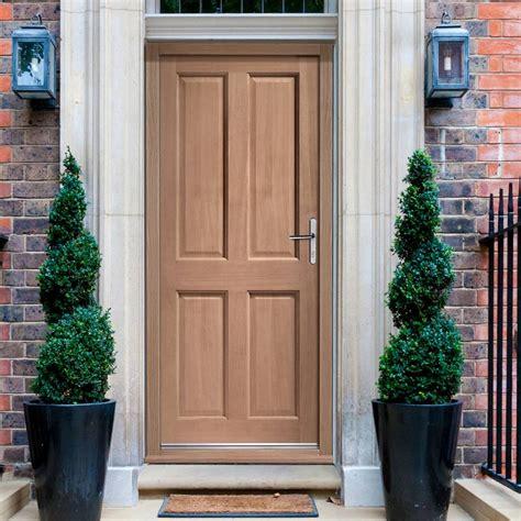 Hardwood Doors by Colonial Hardwood 4 Panel External Door And Frame Set With