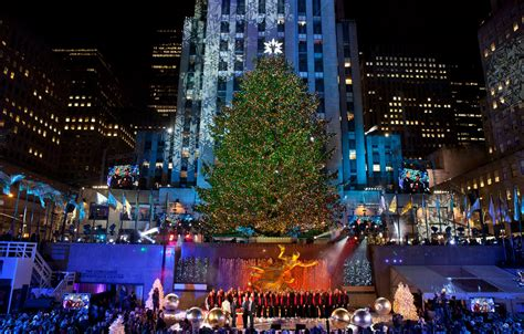 rockefeller center tree lighting new york
