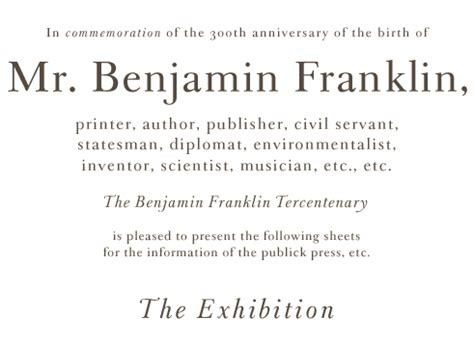 the benjamin franklin tercentenary