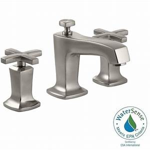 kohler margaux 8 in widespread 2 handle water saving With water saving bathroom faucets