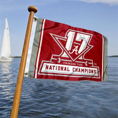 National Boat Flags by Crimson Tide 2017 Football National Chions Boat Flag