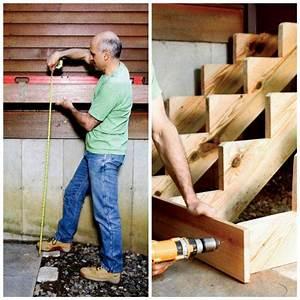 Fabriquer Son Escalier : fabriquer un escalier en bois int rieur ou ext rieur ~ Premium-room.com Idées de Décoration