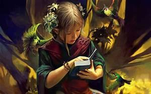 1920x1200 Fantasy girl - Reading desktop PC and Mac wallpaper