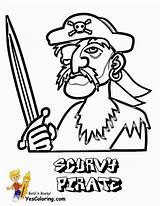 Pirate Coloring Scurvy Pages Yescoloring Costume sketch template