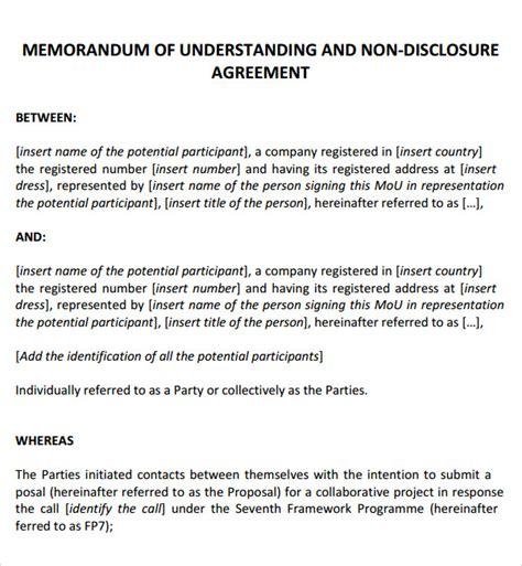 memorandum of understanding template word 12 sle memorandum of agreement templates to sle templates