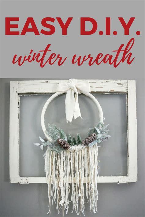 diy winter wreath boho style kaleidoscope living