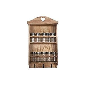 wooden kitchen storage jars shabby chic rustic wooden hanging spice rack 1646