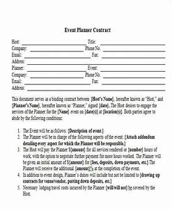 9 event contract templates free sample example format With wedding coordinator contract template free