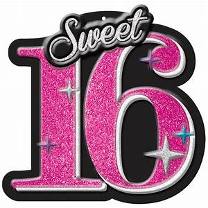 Sweet 16 Celebration Cutout - The Party Starts Here