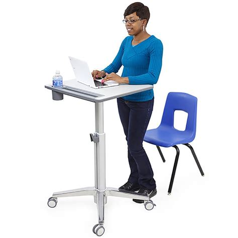 sit stand desk base ergotron learnfit sit stand desk short computer carts