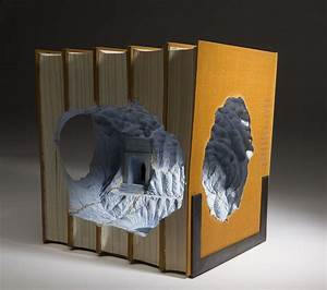 Magnificent new carved book landscapes and architecture by for Magnificent new carved book landscapes and architecture by guy laramee