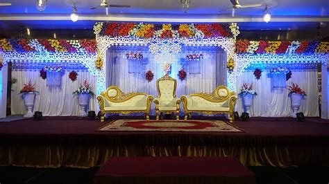 MARRIAGES WEDDING FLOWERS STAGES DECORATION VIDEOS YouTube