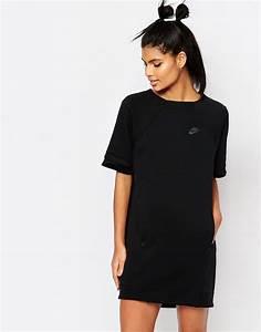 luxury fleece t shirt dress by nike black With tee shirt robe