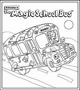 Bus Coloring Pages Magic Cartoon sketch template