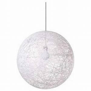 Suspension Boule Blanche : luminaire grosse boule suspension clairage int rieur triloc ~ Teatrodelosmanantiales.com Idées de Décoration