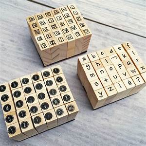 miniature alphabet stamps set by stomp stamps With alphabet letter stamps