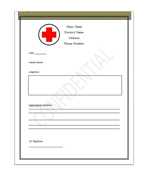 Doctors Note Template 25 Free Doctor Note Excuse Templates Template Lab