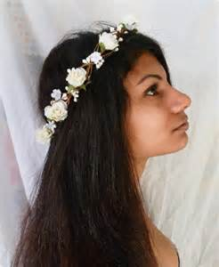 White Rose Wedding Flower Crown