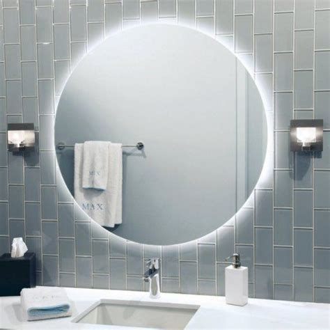 Lit Bathroom Mirrors by Led Back Lit Mirror By Lighting Indoor Lighting
