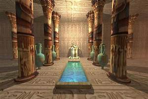 Egyptian Temple Greeting Card for Sale by Corey Ford