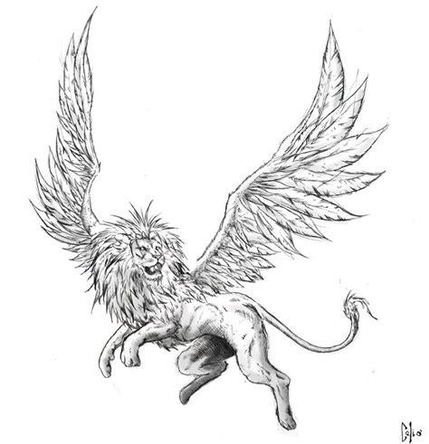 im thinking  body   lion  wings   burning