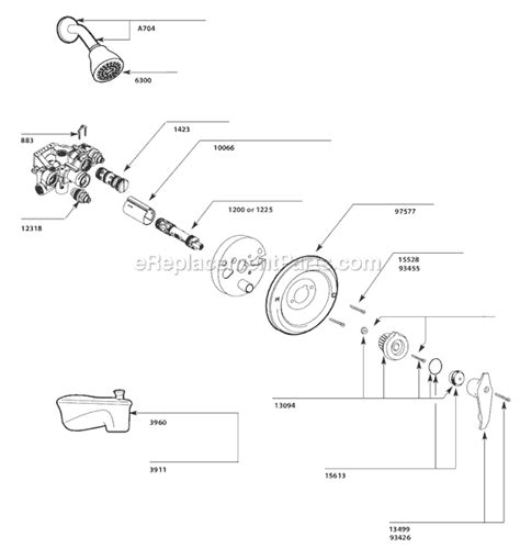 moen replacement cartridge moen 3170 parts list and diagram ereplacementparts com