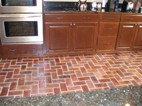brick kitchen floors brick flooring picture gallery 1791
