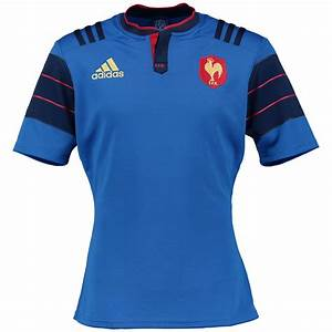 adidas Mens France Rugby Team Home Shirt Jersey Kit Top T ...
